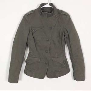 Mexx Fitted Olive Green Military Utility Jacket